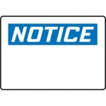 Accuform MRBH834XL, 7″ x 10″ OSHA Notice Safety Sign Blank