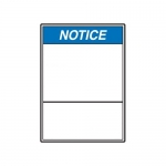 Accuform MRBH848XP10, 20″ x 14″ ANSI Notice Safety Sign Blank