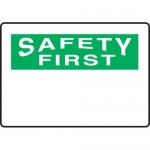 Accuform MRBH965VS10, 7″ x 10″ OSHA Safety First Sign Blank