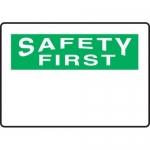 Accuform MRBH965XP, 7″ x 10″ OSHA Safety First Sign Blank