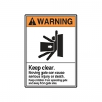 """Accuform MRBR304XP10, 14″ x 10″ ANSI Warning Safety Sign """"Keep Clear"""""""