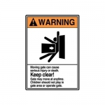 """Accuform MRBR306XP, 14″ x 10″ ANSI Warning Safety Sign """"Keep Clear"""""""