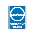 """Accuform MRCY506XF10, 14″ x 10″ Safety Sign """"Conserve Water"""""""