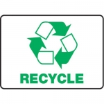 """Accuform MRCY508VS10, 10″ x 14″ Safety Sign """"Recycle"""""""