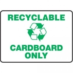 """Accuform MRCY509VS10, 10″ x 14″ Safety Sign """"Recyclable Cardboard …"""""""