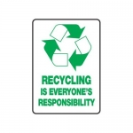 "Accuform MRCY510VS, 14″ x 10″ Safety Sign ""Recycling …"""
