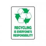 "Accuform MRCY510VS10, 14″ x 10″ Safety Sign ""Recycling …"""