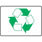 Accuform MRCY520VS10, 10″ x 14″ Safety Sign Recycle Symbol