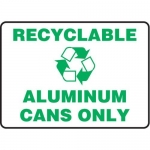 """Accuform MRCY522VS, 10″ x 14″ Safety Sign """"Recyclable – Aluminum…"""""""