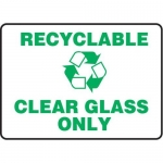 """Accuform MRCY524VS10, 10″ x 14″ Safety Sign """"Recyclable Clear …"""""""