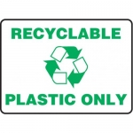 """Accuform MRCY529VS10, 10″ x 14″ Safety Sign """"Recyclable Only"""""""