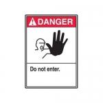 "Accuform MRDM100XP10, 10″ x 7″ ANSI Danger Safety Sign ""Do Not Enter."""