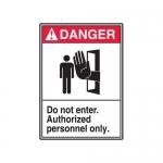 "Accuform MRDM102XP10, 10″ x 7″ ANSI Safety Sign ""Do Not Enter …"""