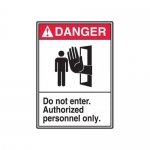 "Accuform MRDM103XP, 14″ x 10″ ANSI Safety Sign ""Do Not Enter …"""