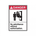 "Accuform MRDM105XP10, 14″ x 10″ ANSI Safety Sign ""No Admittance …"""