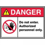 "Accuform MRDM106XT, 7″ x 10″ ANSI ISO Safety Sign ""Do Not Enter …"""