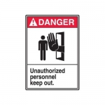 "Accuform MRDM107XP, 14″ x 10″ ANSI Safety Sign ""Unauthorized …"""