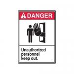 "Accuform MRDM107XT10, 14″ x 10″ ANSI Safety Sign ""Unauthorized …"""
