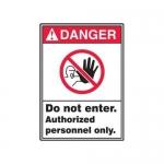 "Accuform MRDM110XP, 14″ x 10″ ANSI Safety Sign ""Do Not Enter …"""
