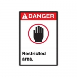 """Accuform MRDM252XV10, 14″ x 10″ ANSI Safety Sign """"Restricted Area."""""""