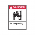 "Accuform MRDM253XP10, 14″ x 10″ ANSI Safety Sign ""No Trespassing"""