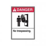"Accuform MRDM253XV10, 14″ x 10″ ANSI Safety Sign ""No Trespassing"""