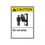 "Accuform MRDM600XL, 14″ x 10″ ANSI Safety Sign ""Do Not Enter."""