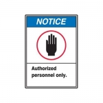 "Accuform MRDM800XT, 10″ x 7″ Safety Sign ""Authorized Personnel …"""