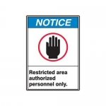 """Accuform MRDM806XV, 14″ x 10″ Safety Sign """"Restricted Area …"""""""