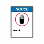 "Accuform MRDM825XV, 14″ x 10″ ANSI Notice Safety Sign ""No Exit."""