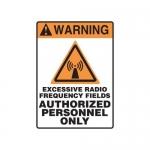 "Accuform MRFQ310XV, 14″ x 10″ Safety Sign ""Excessive Radio …"""