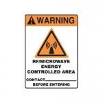 "Accuform MRFQ312VP10, 14″ x 10″ Safety Sign ""RF/Microwave Energy …"""