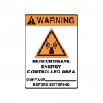 """Accuform MRFQ312VS, 14″ x 10″ Safety Sign """"RF/Microwave Energy …"""""""