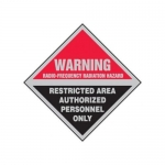 "Accuform MRFQ503XP, 9″ x 9″ Safety Sign ""Radio-Frequency …"""
