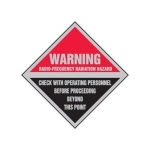 "Accuform MRFQ504XP10, 9″ x 9″ Safety Sign ""Radio-Frequency …"""