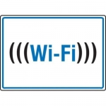 "Accuform MRFQ505XP10, 7″ x 10″ Safety Sign ""Wi-Fi"" Accu-Shield"