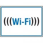 "Accuform MRFQ506XV, 10″ x 14″ Safety Sign ""Wi-Fi"" Adhesive Dura-Vinyl"