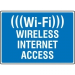 "Accuform MRFQ509XP10, 10″ x 14″ Safety Sign ""Wi-Fi – Wireless …"""