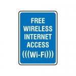 "Accuform MRFQ510XT10, 14″ x 10″ Safety Sign ""Free Wireless …"""