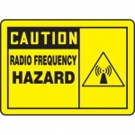 "Accuform MRFQ601XV10, 7″ x 10″ Safety Sign ""Radio Frequency …"""