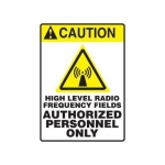 "Accuform MRFQ607XV, 14″ x 10″ Safety Sign ""High Level Radio …"""