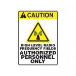 "Accuform MRFQ607XV10, 14″ x 10″ Safety Sign ""High Level Radio …"""