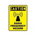 """Accuform MRFQ617XV10, 14″ x 10″ Safety Sign """"Radio Frequency Hazard"""""""
