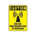 "Accuform MRFQ619XV, 14″ x 10″ Safety Sign ""High Level Radio …"""