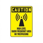 "Accuform MRFQ619XV10, 14″ x 10″ Safety Sign ""High Level Radio …"""