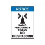 "Accuform MRFQ802XV10, 14″ x 10″ Safety Sign ""Radio Frequency …"""