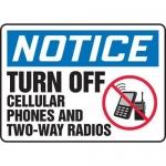 "Accuform MRFQ821XV, 10″ x 14″ Safety Sign ""Turn Off Cellular …"""