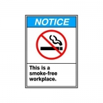 """Accuform MRMK804VS10, 10″ x 7″ Safety Sign """"This Is a Smoke-Free …"""""""