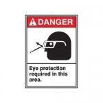 "Accuform MRPE106XT, 10″ x 7″ ANSI Safety Sign ""Eye Protection …"""