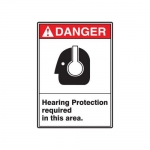 """Accuform MRPE112XV10, 14″ x 10″ Safety Sign """"Hearing Protection …"""""""